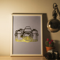 Personalisable foiled camera print