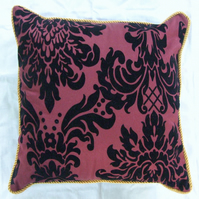 Cushion Cover with Gold Cord Trim