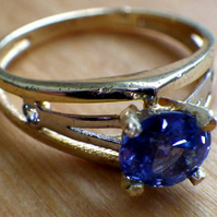 Ladies Sapphire Dress or Engagement Ring