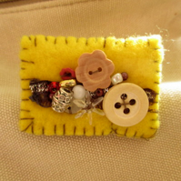Pretty handmade decorated brooch