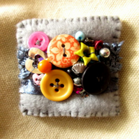 Beautiful eclectic brooch