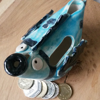 Fish Pottery money box