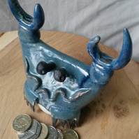 Crab pottery money box