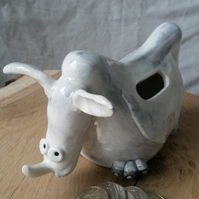 Rhinoceros pottery money box