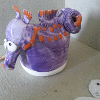 Seahorse pottery money box