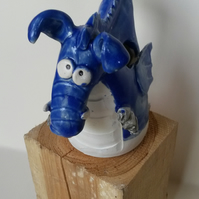 Dragon pottery money box
