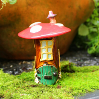 Fairy house - small handmade ceramic fairy toadstool house