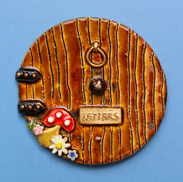 Fairy door - small handmade ceramic fairy door