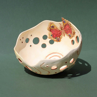 Butterfly bowl – handmade ceramic butterfly bowl