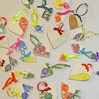 Pretty handmade hanging heart decoration