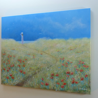 Path to the sea, an original painting by Christopher. A. Smith