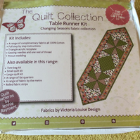 Patchwork table runner kit, inc acrylic triangle template, finished size 37x12""