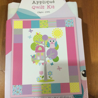 "Patchwork Quilt Kit, Crib or Cot Size, Finished size 33 x 39"", Olani Owl Design"