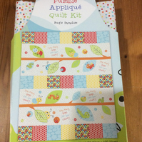 "Patchwork Quilt Kit, Crib Cot Size, Finished size 33x39"", Bug's Paradise Design"