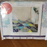 "Patchwork Quilt Kit, Finished size 36 x 42"", Instructions, Fabrics and Batting"
