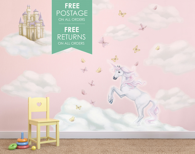 Unicorn Wall Decals Wall Stickers Mural Folksy
