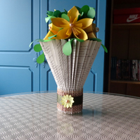 small book folded vase