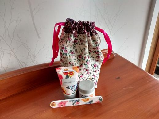Drawstring Gift Bag in a Floral Print