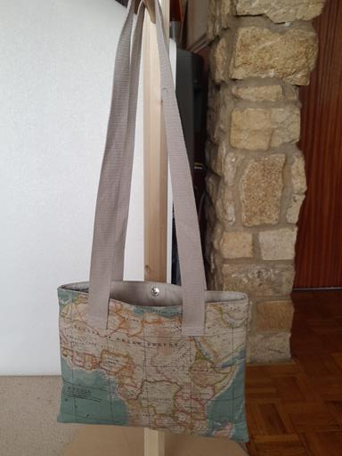 World Map Print Bag