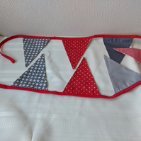 Scandi Print Bunting in Red and Grey