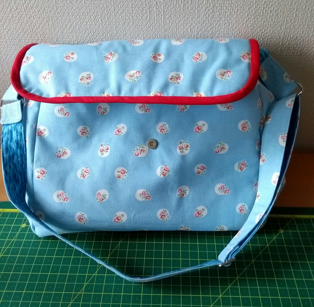 Large Messenger style Bag or Baby organiser bag, designer fabric