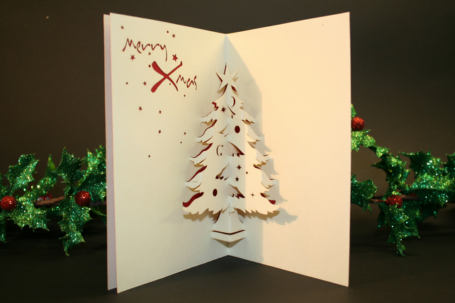 Christmas Tree 3D Pop-up Christmas Card