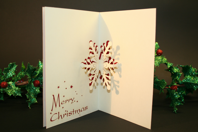 Snowflake 3D Pop-up Christmas Card