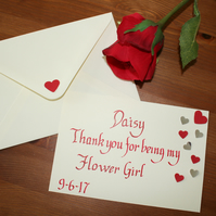 Handwritten Calligraphy Wedding Thank You Cards - Bridesmaids and Flower Girls