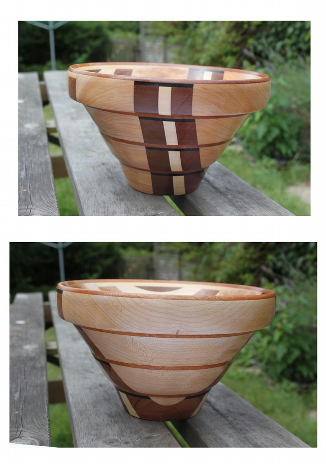 Wooden Bowl with lovely colourful grain