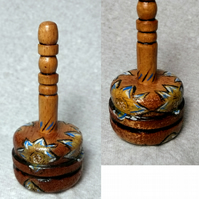 Hand painted, hand made spinning top 1
