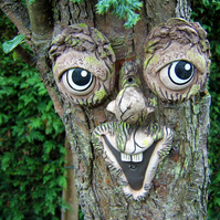 Tree Face, garden ornament, sculptures, statues, garden decorations, funny faces