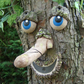 garden ornament tree decoration sculpture statue funny faces gift ideas