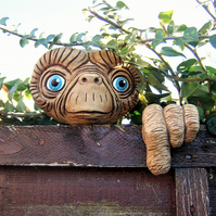 E.T Tree Face garden decoration, ornament, sculpture, statue, face decoration.
