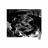 Limited Edition Engraving 'The Flood'