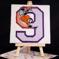 Handmade greetings card embroidered design any age to order