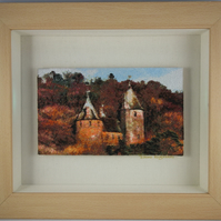 Castell Coch. A beautiful, framed, machine embroidered work of art.