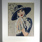 Art Deco. A beautiful, mounted, unframed, machine embroidered work of art.