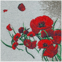 Embroidered Art- Poppies 'Remembrance'.  A beautiful embroidered work of art.