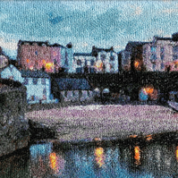 Tenby II.  A beautiful, mounted, machine embroidered work of art.