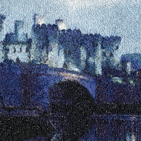 Embroidered Art - Conwy Castle. A beautiful work of art