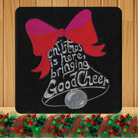 Handmade Christmas is Here Bringing Good Cheer Bell Card
