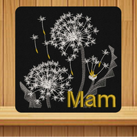Mother's Day Card. Beautiful, handmade embroidered design