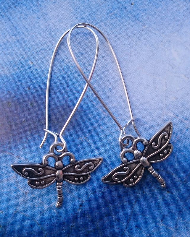Dangly Dragonfly Earrings
