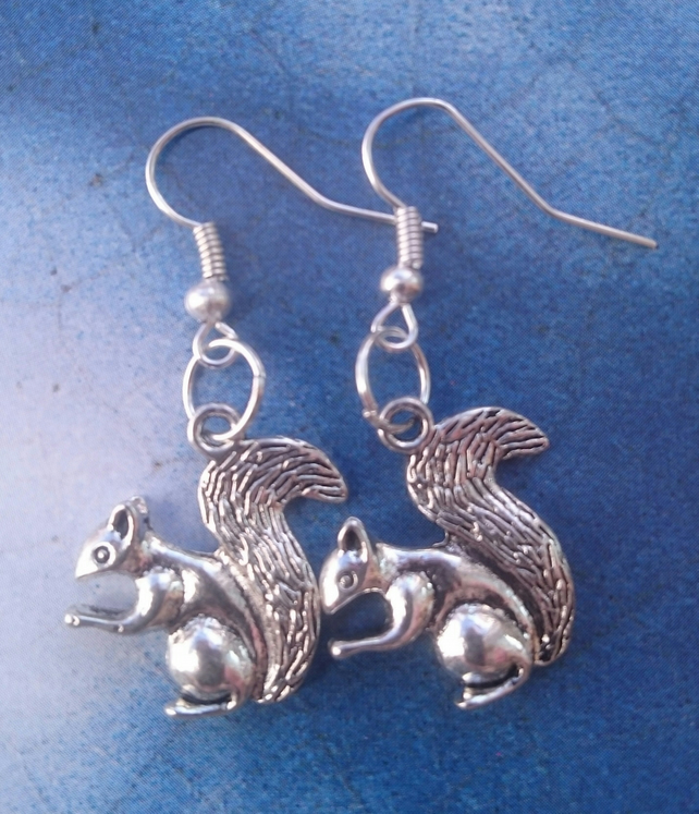 Bushytailed Squirrel Earrings