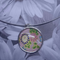 A Unique Mini Print or Collage in a Cabochon Pendant