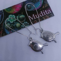Dangly Sterling Silver Earrings Tibetan Silver Robinss