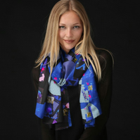 Lovely Scarf Designed in Bristol by Rebecca Davies - Night Time