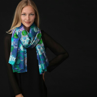 Lovely Scarf Designed in Bristol by Rebecca Davies - Bubbles and Spirals