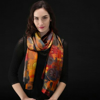 Lovely Scarf Designed in Bristol by Rebecca Davies - Autumn Collage