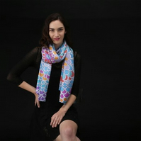 Lovely Scarf Designed in Bristol by Rebecca Davies - Flower Blast